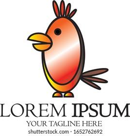 logo shape red chicks gradation suitable for a business logo / your company