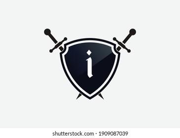 I logo shield sword logo, emblem or banner for luxury, royal or vintage design concept.