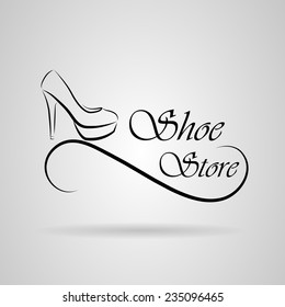 Logo shoes in vector format