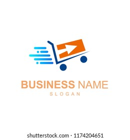 logo shop with online and delivery