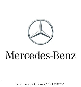 Logo sign template vector Mercedez Benz luxury vehicles global automobile marque and a division of the German