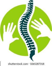 Logo, Signet or Flat Icon for Orthopedics, Osteopathy, Physiotherapy and Massage