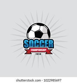 Logo Sport Soccer Championship