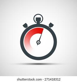 Logo sports stopwatch. Vector image.