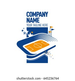 Logo with stadium .eps10