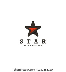Logo Star direction, eps 10