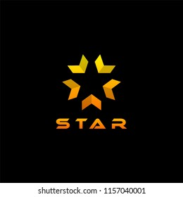 Logo star on isolated black background