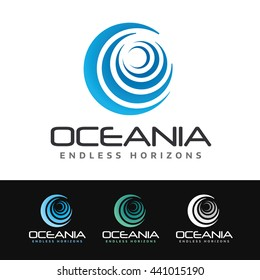 Logo of a stylized circular wave. This logo is suitable for many purpose as spa resort, corporate firm, surfing school, ocean wildlife and more.