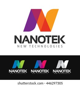 Logo of a stylized and colorful N letter.
