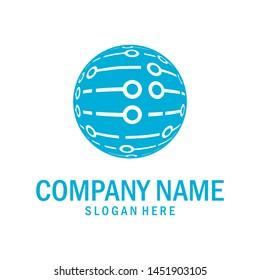 Logo stylized global tech design