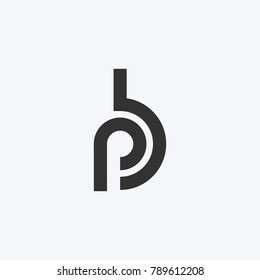 Logo of stylized Letter P and B. Clean and simple logo.