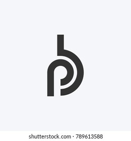 Logo of stylized Letter P and B