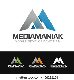 Logo of a stylized M letter or mountains. This logo is suitable for many purpose as : multimedia firm, marketing group, media company, mountains logo and more.