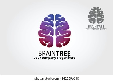 Logo of a stylized tree made with brain. Excellent logo,simple and unique.