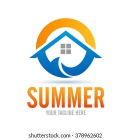 Logo Summer Icon Element Template Design Logos