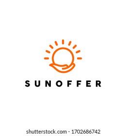 Logo Sun, give Offer, Light, Orange