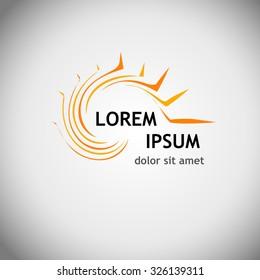 Logo sun. Vector