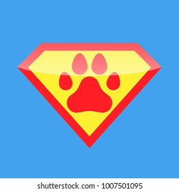 Logo Super Hero Dog