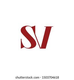 logo sv initial logo design