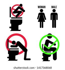 Logo Symbol Toilet Rules Pack Male adn Female