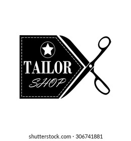 logo tailor shop and sewing.vector.