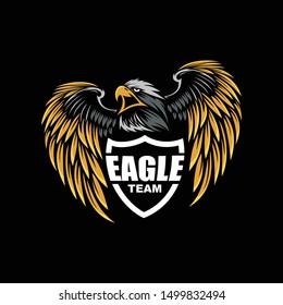 Logo team eagle , logo esport, game, illustration or  template