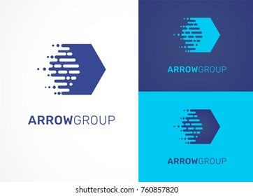 Logo - technology, arrow, tech icon and symbol
