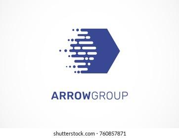 Logo - technology, arrow, tech icon and symbol