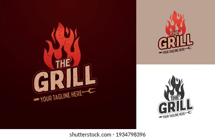 logo template for barbecue restaurant