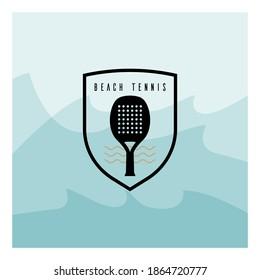 Logo template for beach tennis event.