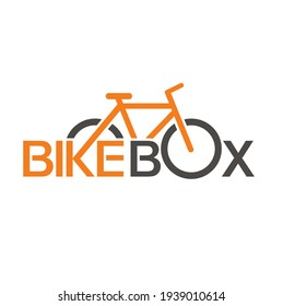 logo template for a bicycle container or bike box