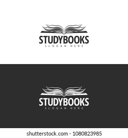 Logo template. Bookstore logo design.