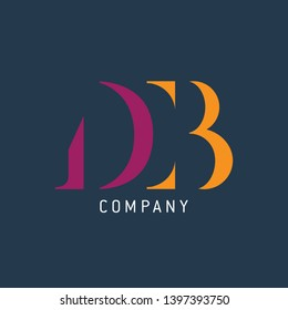 Logo template for company. Letters D and B. Monogram logo DB.