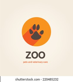Logo template. Corporate icon for logotype. Vector. Zoo.