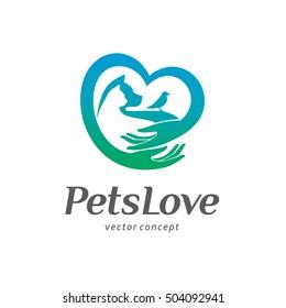 Logo template design. Pets love