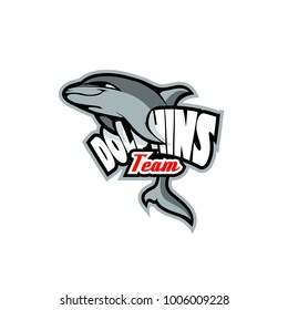 Logo template with Dolphin