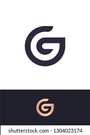 Logo template with G letter with hidden B