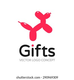 Logo template - gifts. The logo depicts a balloon dog