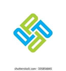 logo template and icon. logotype letter p