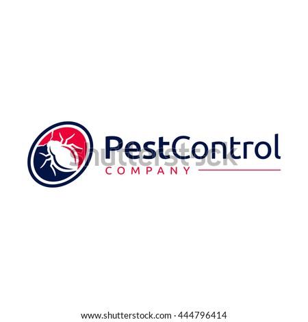 logo template image bug circle pest のベクター画像素材