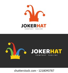 Logo template. Joker hat logo.