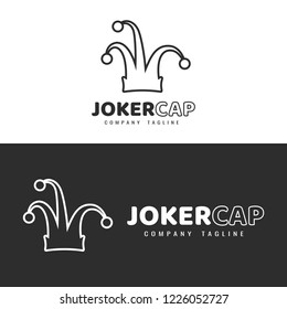 Logo template. Joker hat logo.