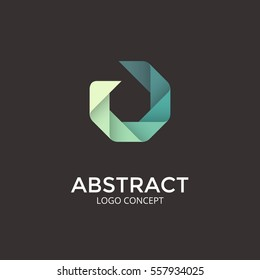 Logo template. Modern vector abstract circle creative sign or symbol. Design geometric element. Identity logotype concept.