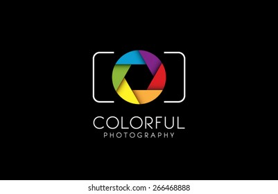 Logo template photography studio, photographer, photo. Company, brand, branding, corporate, identity, logotype. Clean and modern style