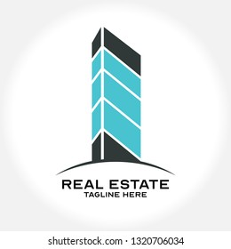 Logo template real estate, apartment, condo, house, property, Clean, modern and elegant style design