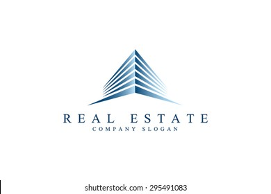 Logo template real estate, apartment, condo, house, rental, business. brand, branding, logotype, company, corporate, identity. Clean, modern and elegant  style design