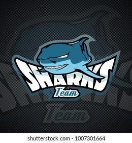 Logo template with Shark head.