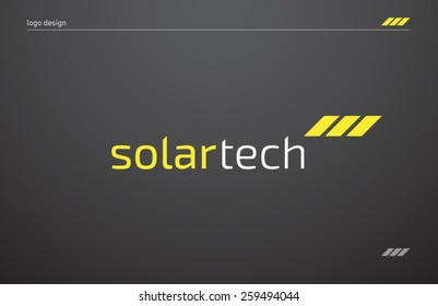 Logo template solar panels technology company, brand, branding, corporate, identity, logotype. Clean and modern style design