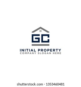 Logo template vector Design, property, real estate with the initials GC - Vector