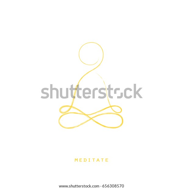 Logo Template Yoga Classes Eps 10 Stock Vector Royalty Free 656308570